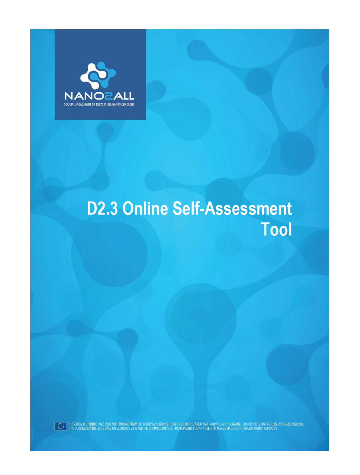 image: D2.3 Online self-assessment tool
