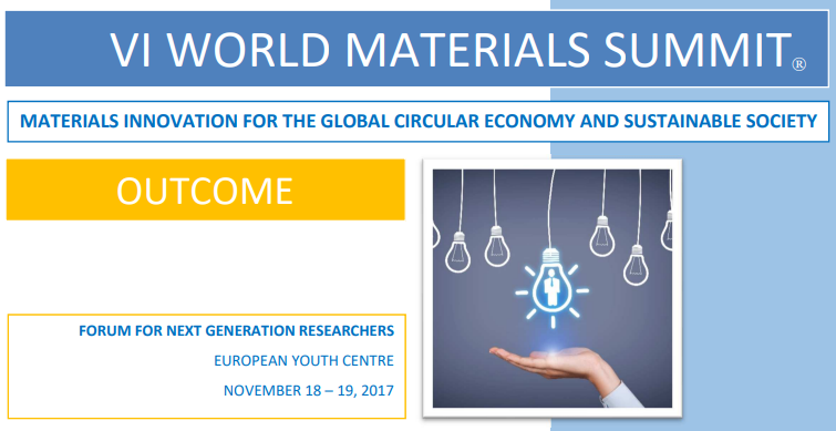image: Outcomes of the 'VI World Materials Summit'
