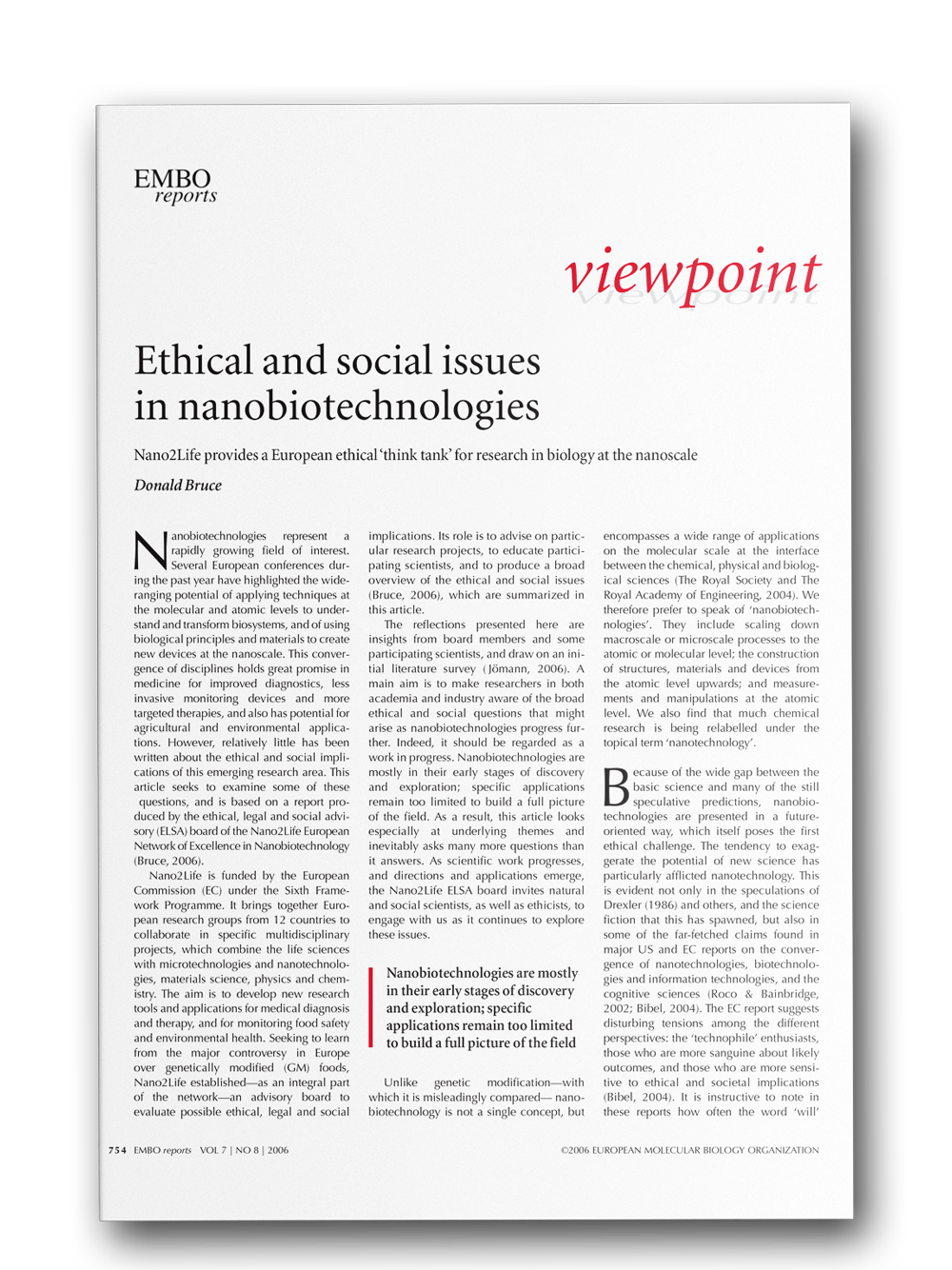 image: Ethical and social issues in nanobiotechnologies