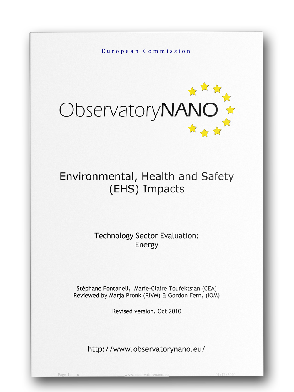 image: Environmental, Health and Safety (EHS) Impacts | Technology Sector Evaluation: Energy by ObservatoryNano