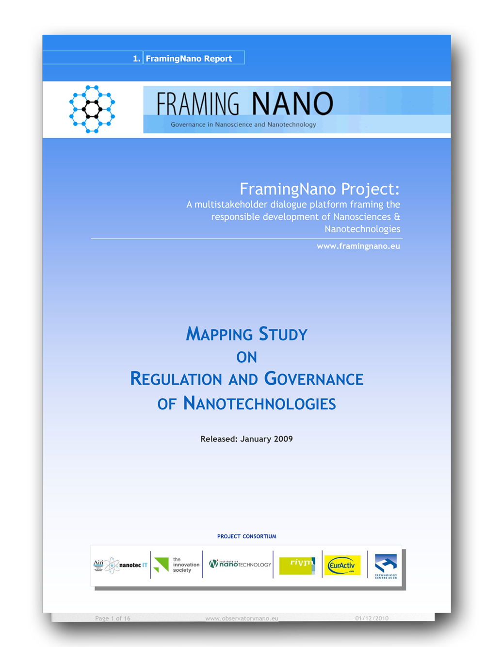 image: Mapping study on regulation and governance of nanotechnologies, by Framing Nano